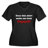 Make Me Look Engaged Women's Plus Size V-Neck Dark