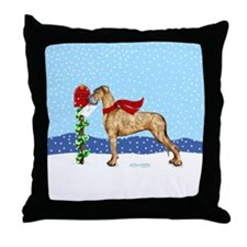 Great Dane Brindle UC Mail Throw Pillow