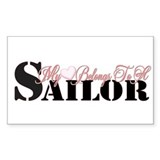 My Heart Belongs To A Sailor Rectangle Decal