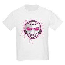 Pink Lightning Goalie Mask T-Shirt
