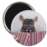 Chinchilla Holiday Magnet