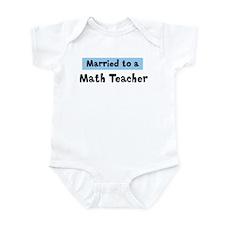 Married to: Math Teacher Onesie
