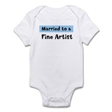 Married to: Fine Artist Infant Bodysuit
