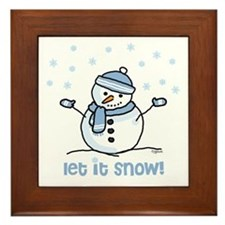 Let it snow snowman Framed Tile