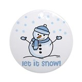 Let it snow snowman Ornament (Round)