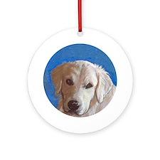 Golden Retriever portrait Ornament (Round)