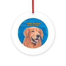 Golden Retriever Heart of Gold Ornament (Round)