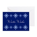 Winter Wishes Snowflakes Greeting Card