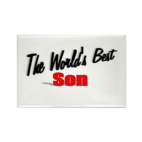 """The World's Best Son"" Rectangle Magnet"