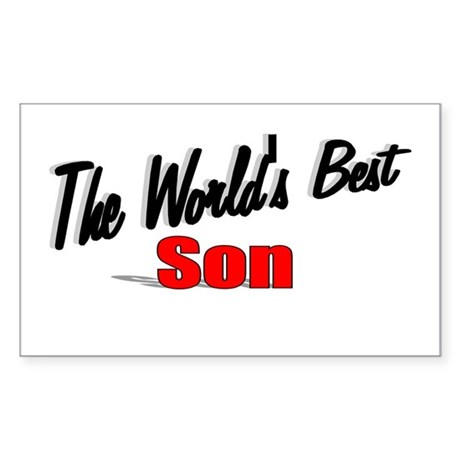 """The World's Best Son"" Rectangle Sticker"
