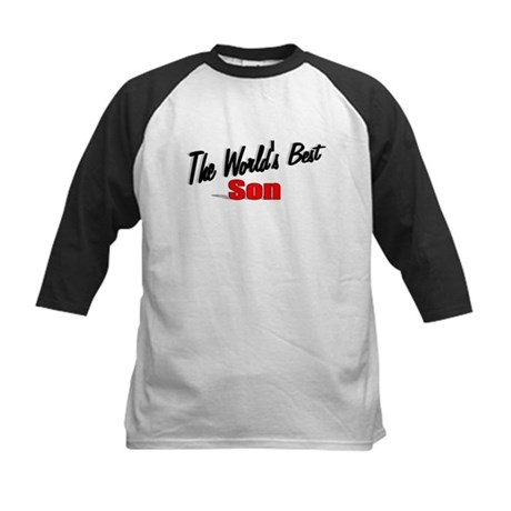 """The World's Best Son"" Kids Baseball Jersey"