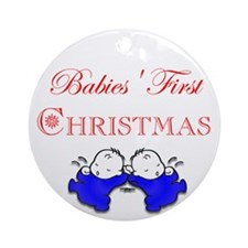 A Twin's Christmas! Ornament (Round)