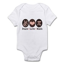 Peace Love Math Pi Onesie Infant Bodysuit