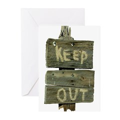 Keep Out Greeting Cards (Pk of 10)