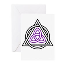 Triquetra shapes Greeting Cards (Pk of 10)