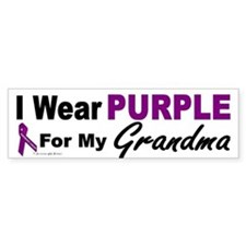 I Wear Purple For My Grandma 3 (PC) Bumper Sticker