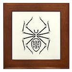Tribal Spider Design Framed Tile