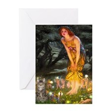 Midsummer/ Tiger Cat Greeting Card