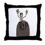 Tombstone & Skeleton Design Throw Pillow
