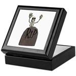 Tombstone & Skeleton Design Keepsake Box