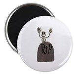 Tombstone & Skeleton Design Magnet