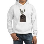 Tombstone & Skeleton Design Hooded Sweatshirt
