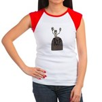 Tombstone & Skeleton Design Women's Cap Sleeve T-S