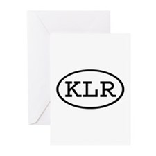 KLR Oval Greeting Cards (Pk of 20)