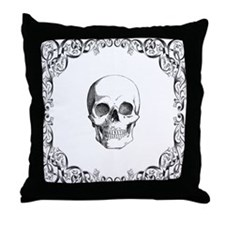 Elegant Skull Throw Pillow
