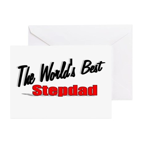 """The World's Best Stepdad"" Greeting Cards (Pk of 2"