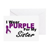 I Wear Purple For My Sister 3 (PC) Greeting Card