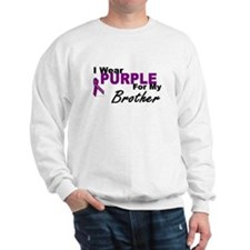 I Wear Purple For My Brother 3 (PC) Sweatshirt