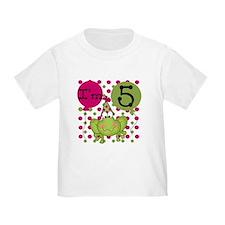 Frog 5th Birthday (pink) T