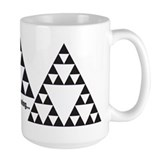 Sierpinski triangles Mug