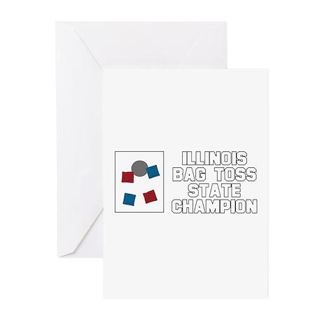 Illinois Bag Toss State Champ Greeting Cards (Pk o