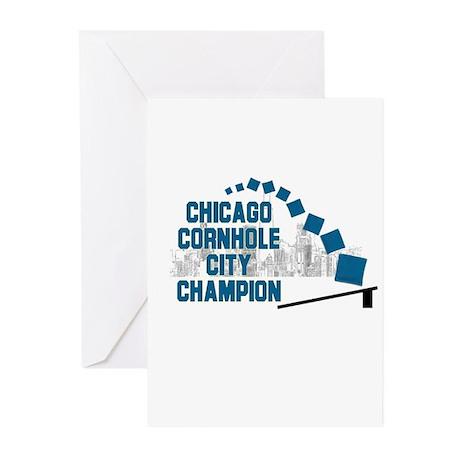 Chicago Cornhole City Champio Greeting Cards (Pk o
