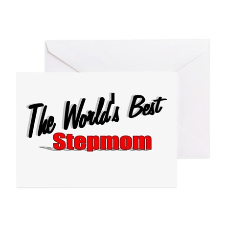 """The World's Best Stepmom"" Greeting Cards (Pk of 2"