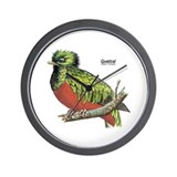 Quetzal Rain Forest Bird Wall Clock