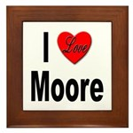 I Love Moore Framed Tile