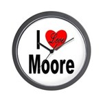 I Love Moore Wall Clock
