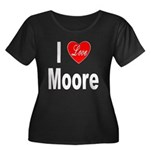 I Love Moore (Front) Women's Plus Size Scoop Neck