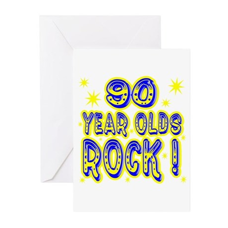 90 Year Olds Rock ! Greeting Cards (Pk of 10)