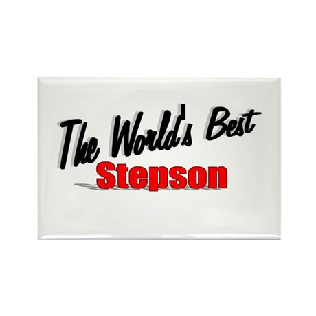 """The World's Best Stepson"" Rectangle Magnet"