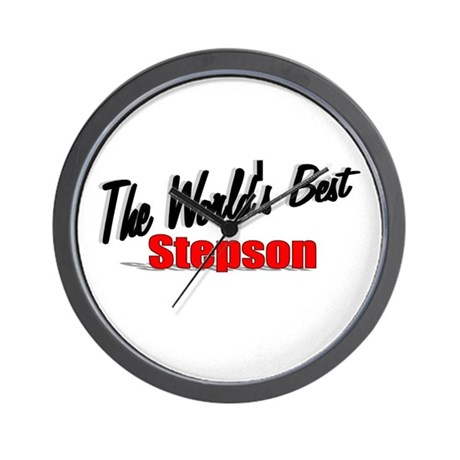 """The World's Best Stepson"" Wall Clock"