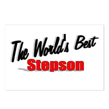 """The World's Best Stepson"" Postcards (Package of 8"