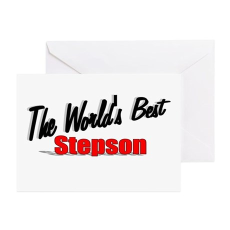 """The World's Best Stepson"" Greeting Cards (Pk of 2"