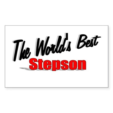 """The World's Best Stepson"" Rectangle Sticker"