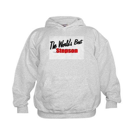 """The World's Best Stepson"" Kids Hoodie"