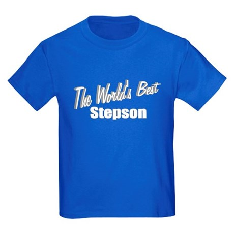 """The World's Best Stepson"" Kids Dark T-Shirt"