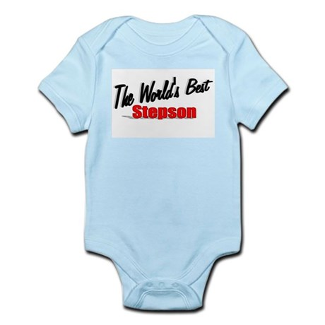 """The World's Best Stepson"" Infant Bodysuit"